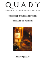 Dessert wine and food, the art of pairing cover page.