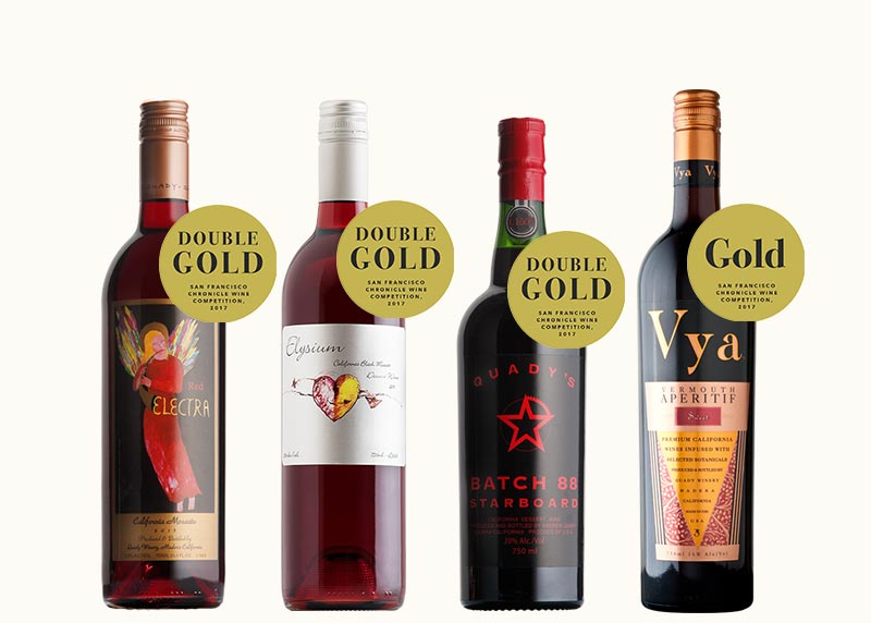 Spring April Quady Wine Club Release 2017 SF Chronicle Wine Competition Gold Medal Winners Red Electra Moscato Elysium Dessert Wine Starboard Batch 88 Vya Sweet Vermouth