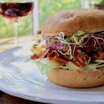 Pulled pork BBQ Jackfruit Vegan Sandwich Pairing with manhatanns Americano summer BBQ friends family picnic