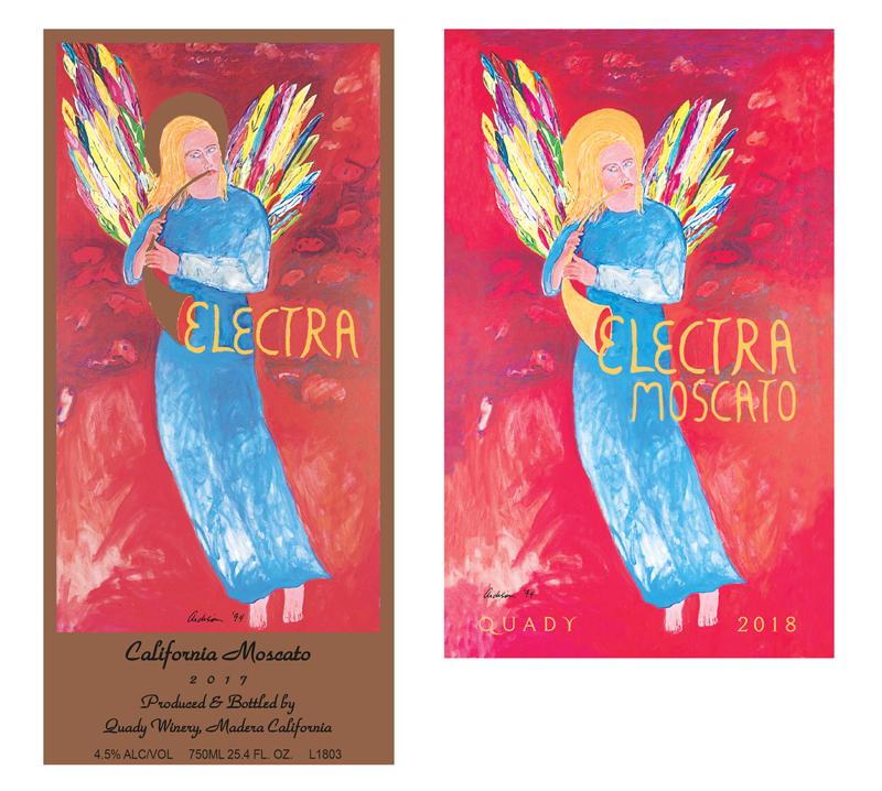 Electra Moscato Wine Label Design Change Vintage 2017 Vintage 2018